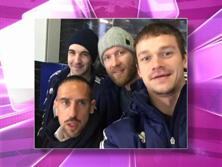 Игроки «Локомотива» устроили фотосессию с игроком «Баварии» Франком Рибери