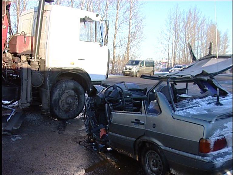 Серьезная авария произошла на выезде из Ярославля