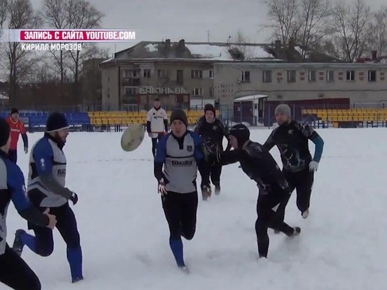 В Рыбинске состоялся турнир по снежному регби