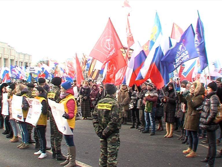На Советской площади прошел митинг, посвященный присоединению Крыма к России