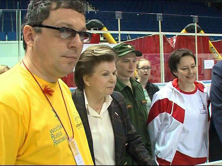 Валентина Терешкова посетила один из этапов чемпионата рабочих профессий по стандартам WorldSkills Russia