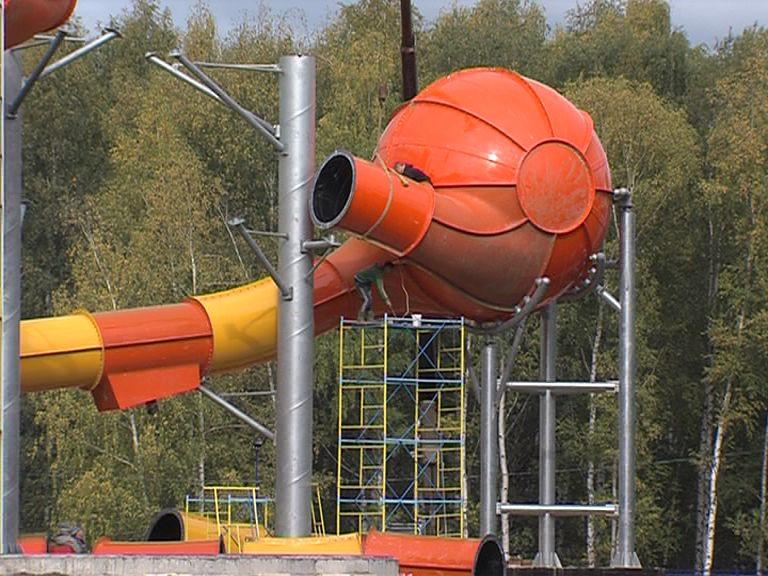В ярославском аквапарке устанавливают горки