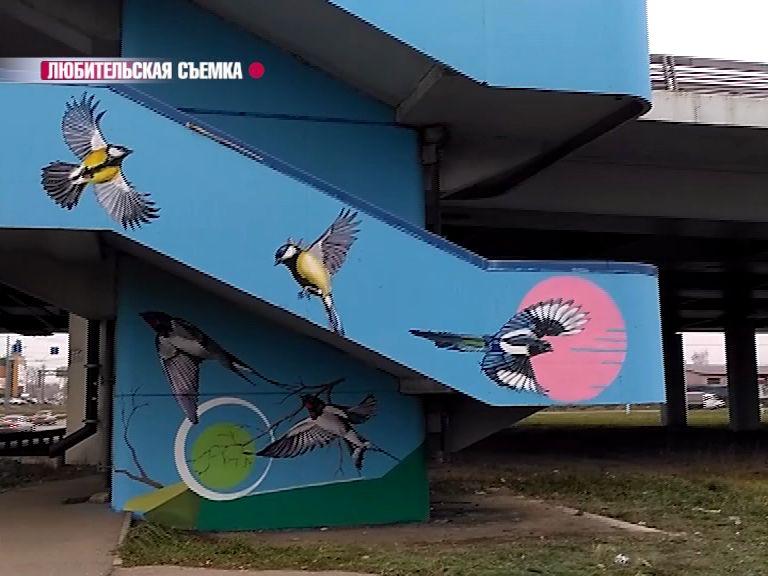Лестницы Юбилейного моста раскрасили ярославские художники