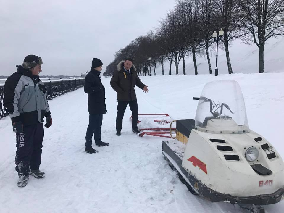 В самом центре Ярославле организуют лыжную трассу