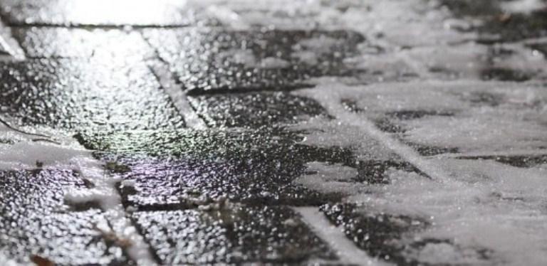 На Рыбинск обрушился ледяной дождь