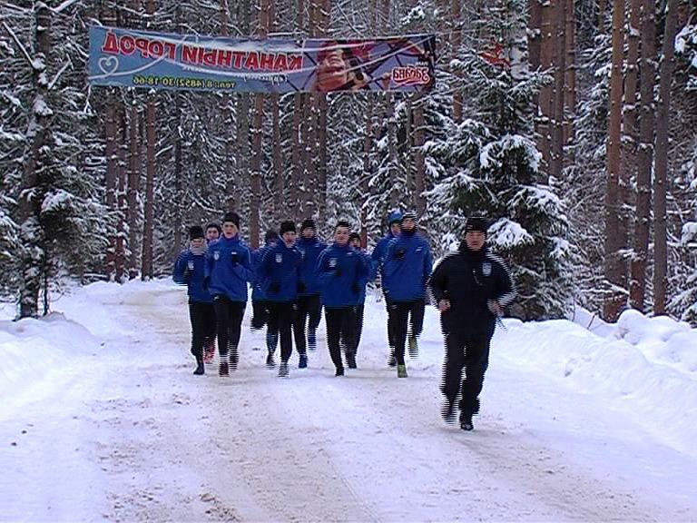 Тренировки «Шинника»: бег, тренажерный зал и катание с горок