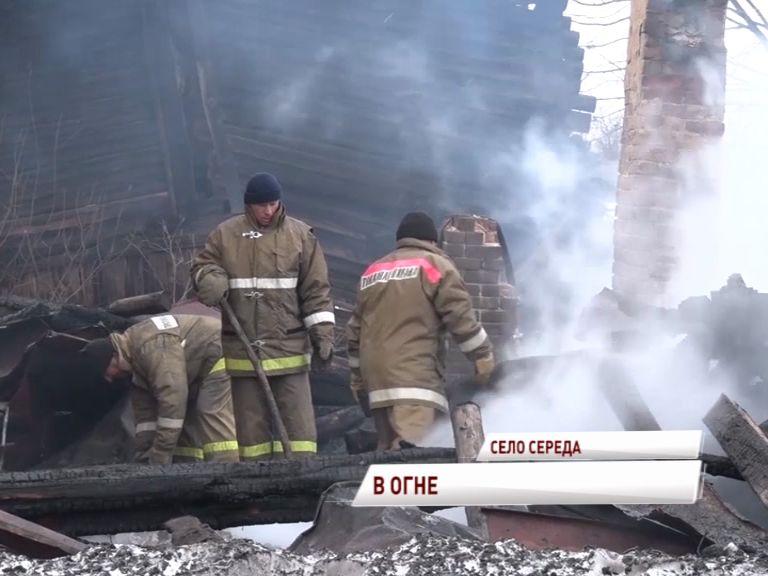 Страшный пожар в селе Середа: под завалами по-прежнему могут находиться люди