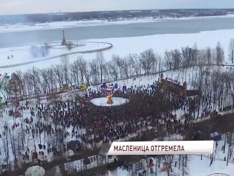 Главная Масленица страны в Ярославле прогремела на всю Россию