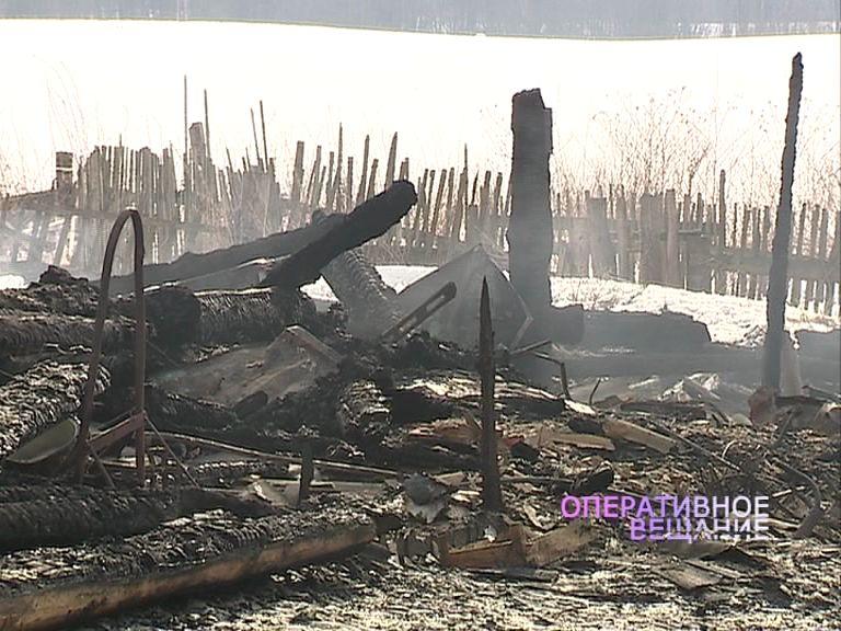 Сильный пожар в Борисоглебском районе оставил семью без дома