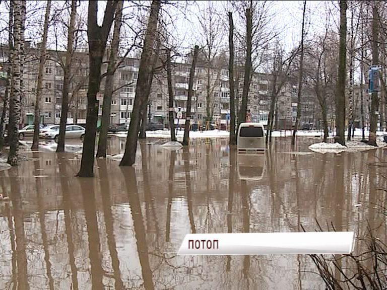 Брагинский двор ушел полностью под воду