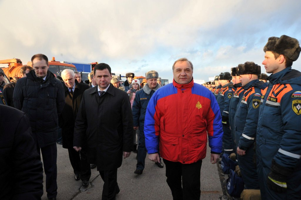 Министр МЧС России Владимир Пучков проверил готовность региона к весеннему половодью