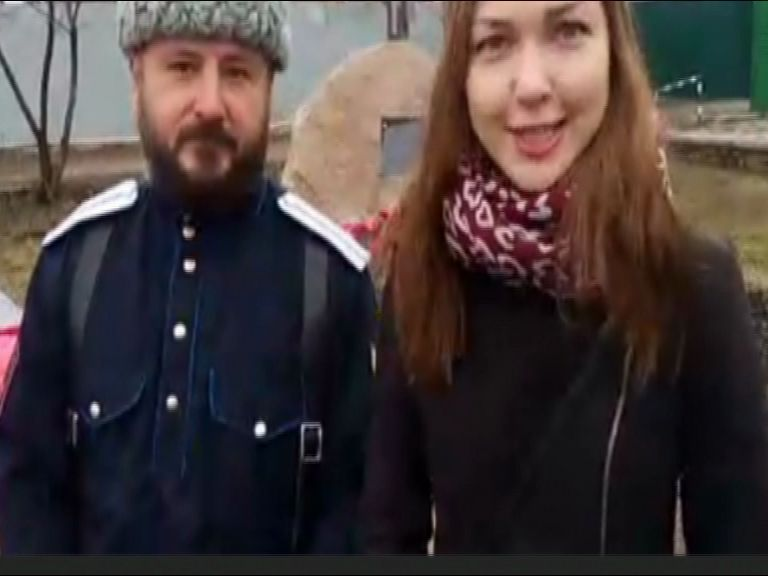 В Некрасовском ярославские казаки проводят историко-патриотическую акцию