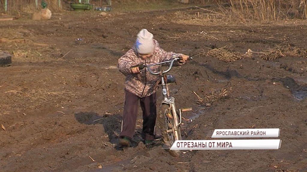 Деревня Лобаниха под Ярославлем утопает в грязи и живет в темноте