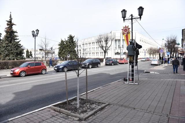 Ярославль начали украшать к 1 Мая и Дню Победы