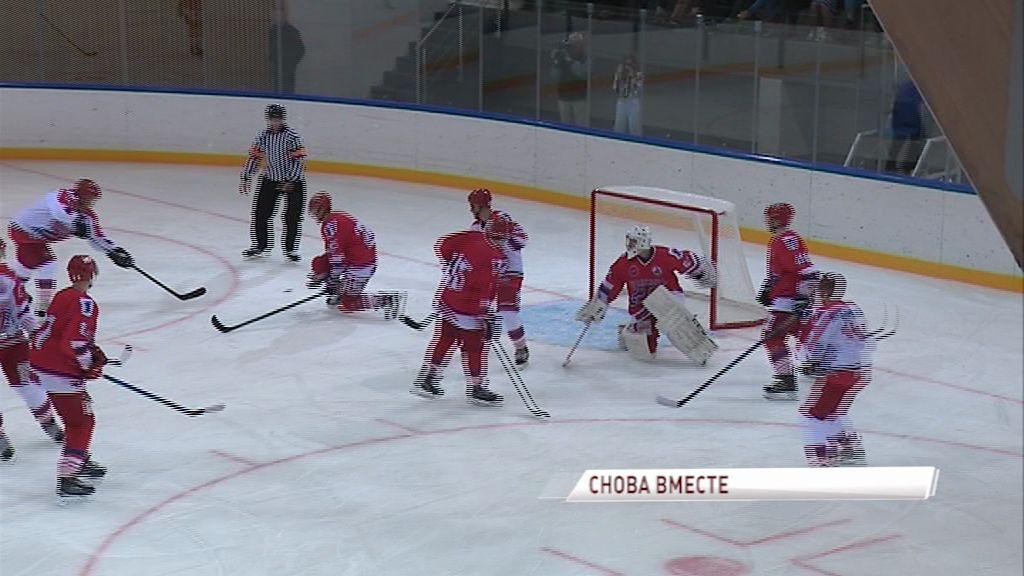 Состоялся первый официальный матч на льду новой базы «Локомотива»