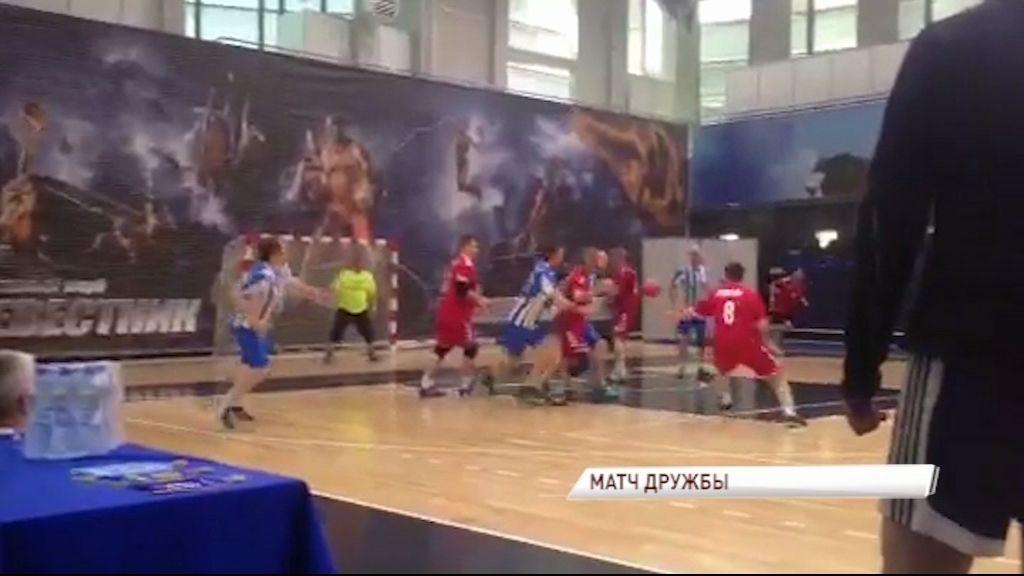 Немецкие гандболисты провели товарищеский матч в Ярославле