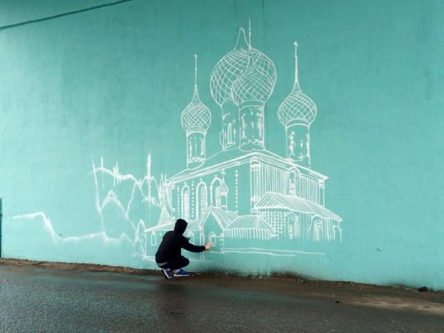 На опорах Октябрьского моста появится изображение храма