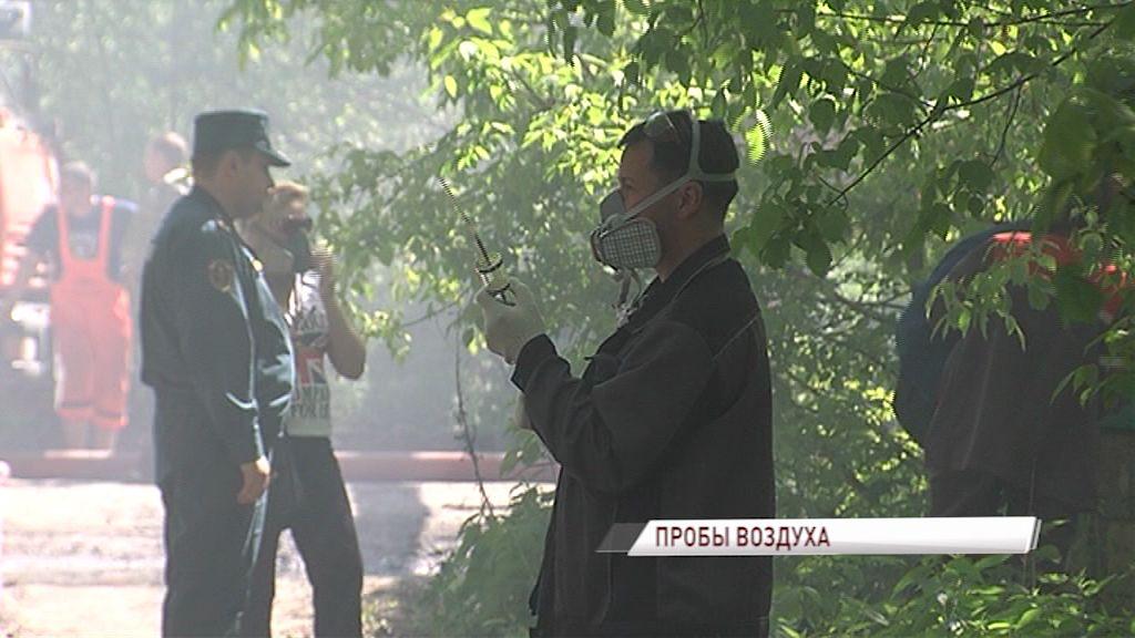 Специалисты замерили вредные вещества в воздухе после серьезного пожара в Ярославле
