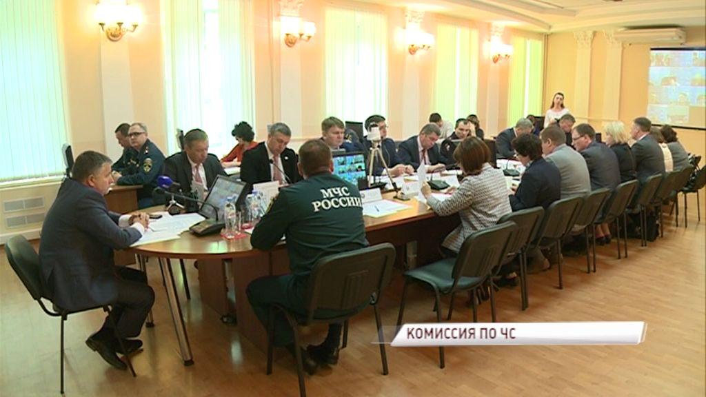 Точную картину крупного пожара в Ярославле обсудили на заседании комиссии по чрезвычайным ситуациям