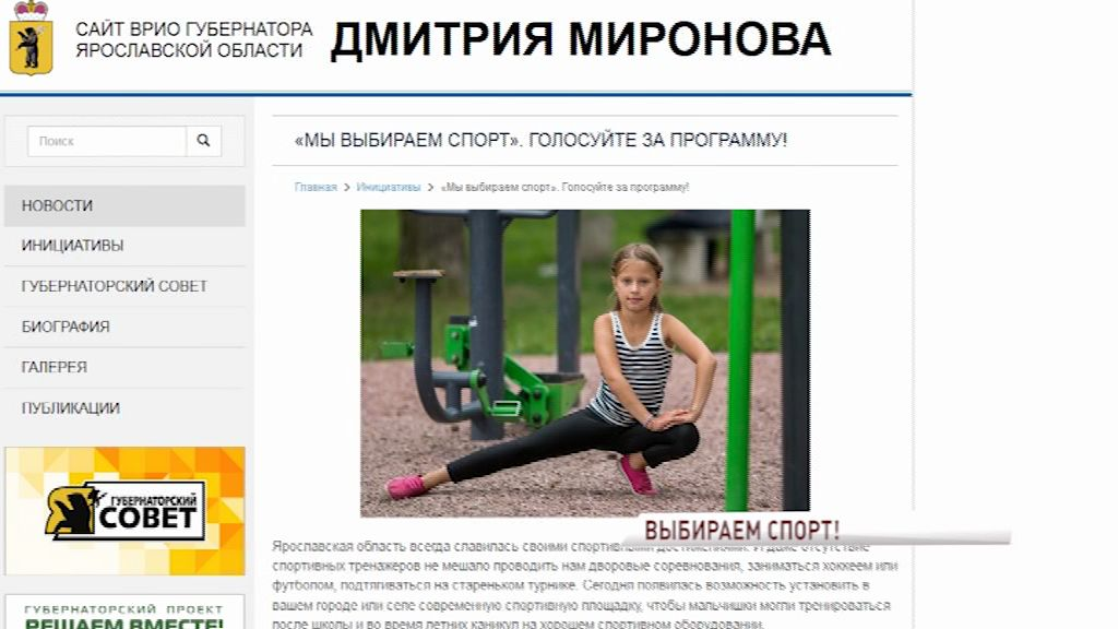Ярославцы самостоятельно могут выбрать место для воркаут-площадок