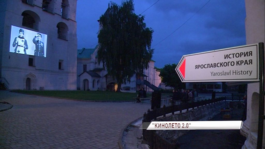 На стенах Спасо-Преображенского монастыря теперь показывают кино