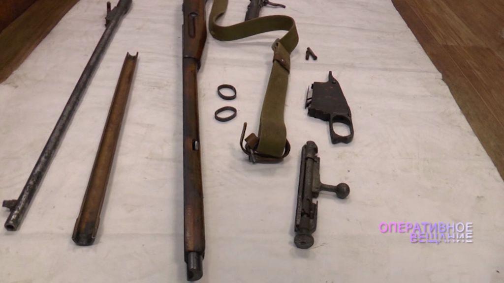 У жителя Борисоглебского района нашли части винтовки Мосина