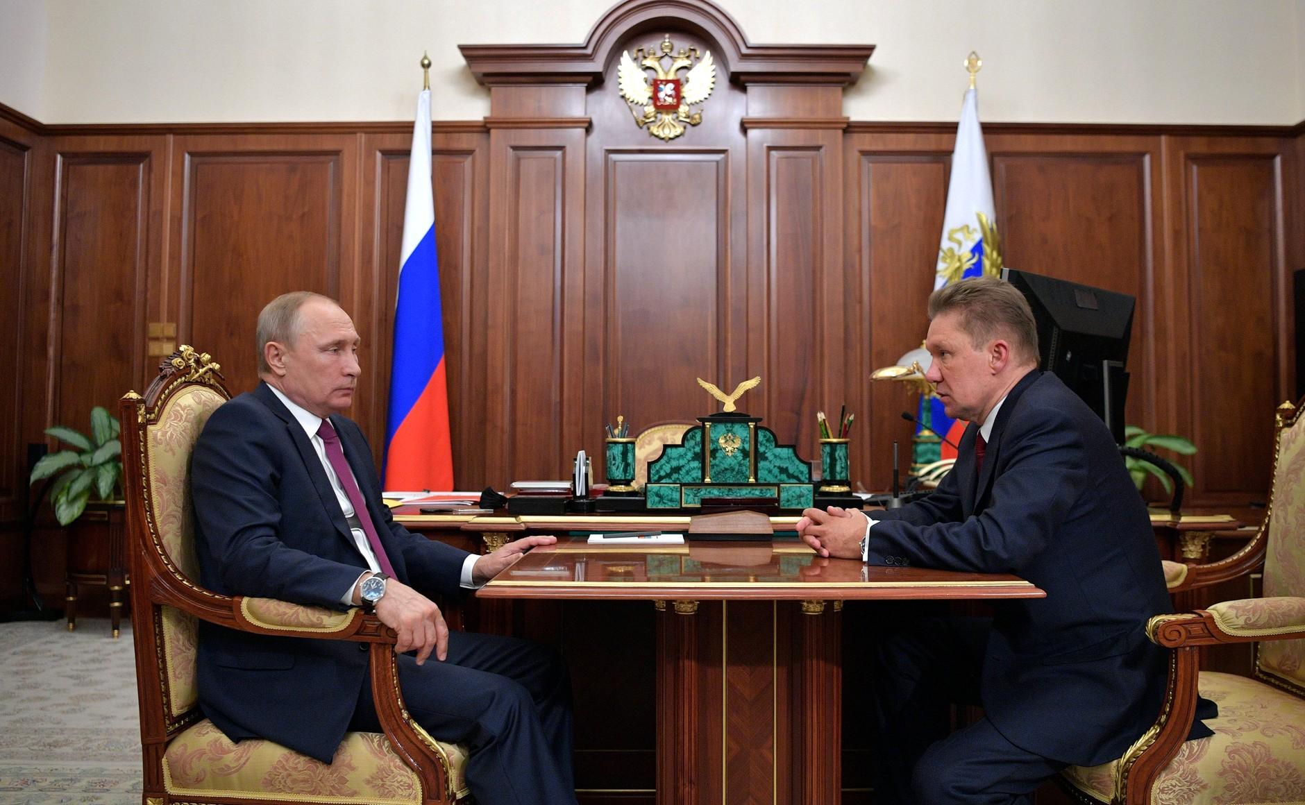 Алексей Миллер – Владимиру Путину: «Хотелось бы отметить Ярославскую область