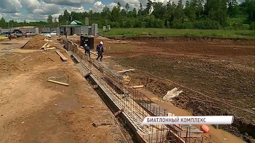 Под Рыбинском полным ходом идет строительство биатлонного комплекса