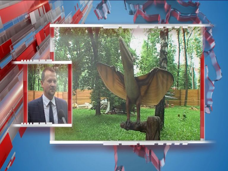 В Ярославле начался монтаж Дино-парка
