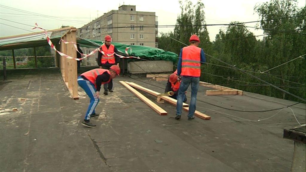 В Брагине прошли учения для подрядчиков, которые ремонтируют крыши