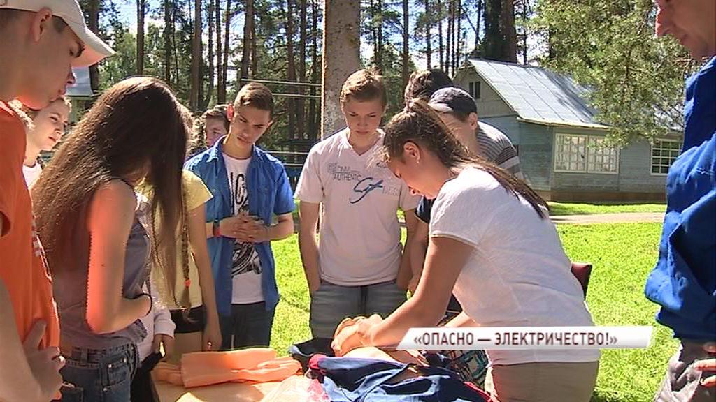 В детском лагере имени Матросова состоялась акция «Территория безопасности»