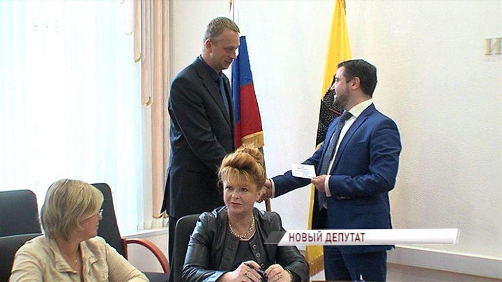 Павел Дыбин получил удостоверение регионального депутата