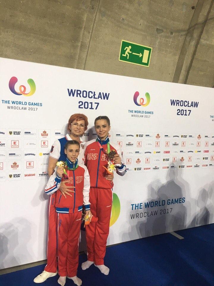 Ярославские акробатки стали чемпионками десятых Всемирных игр
