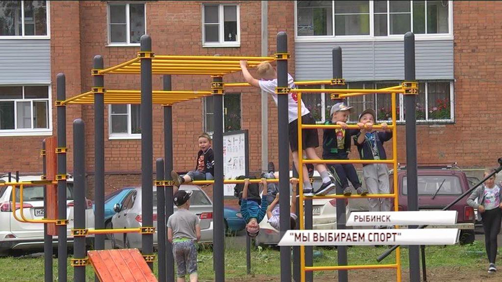 В Рыбинске появилось новая площадка для воркаута