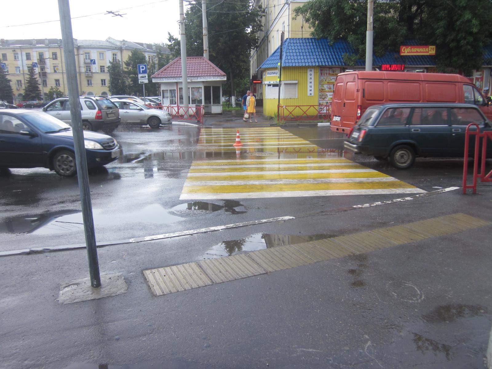 У Ярославля-Главного водитель на ГАЗе сбил женщину на переходе