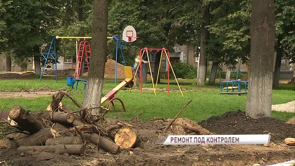 У жителей домов на пересечении Павлова и Курчатова появились вопросы к благоустройству двора