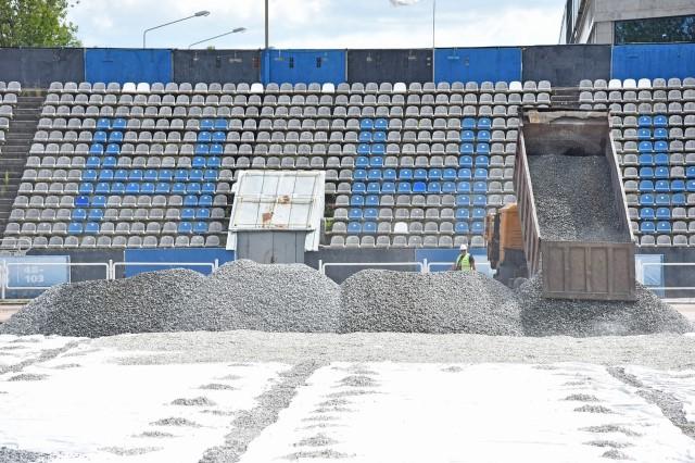 ФОТО: поле на стадионе «Шинник» будет готово к концу августа