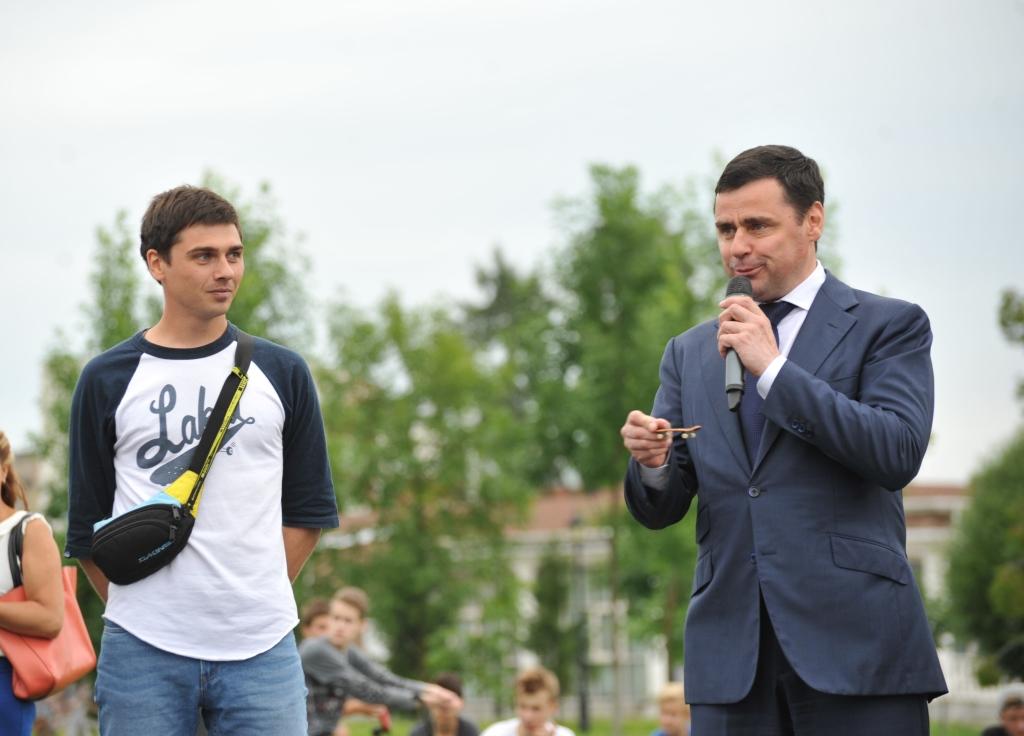 Глава региона Дмитрий Миронов открыл скейт-парк в Ярославле