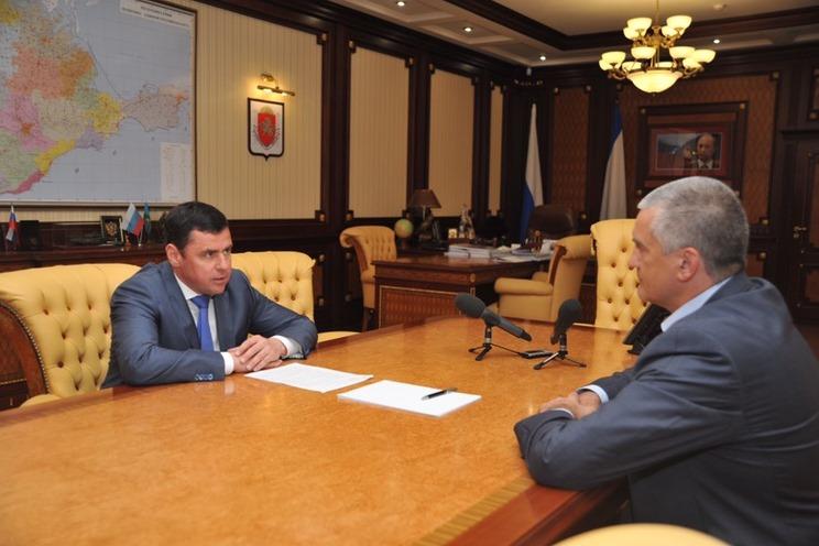 Врио губернатора Дмитрий Миронов обсудил с главой Крыма вопросы сотрудничества