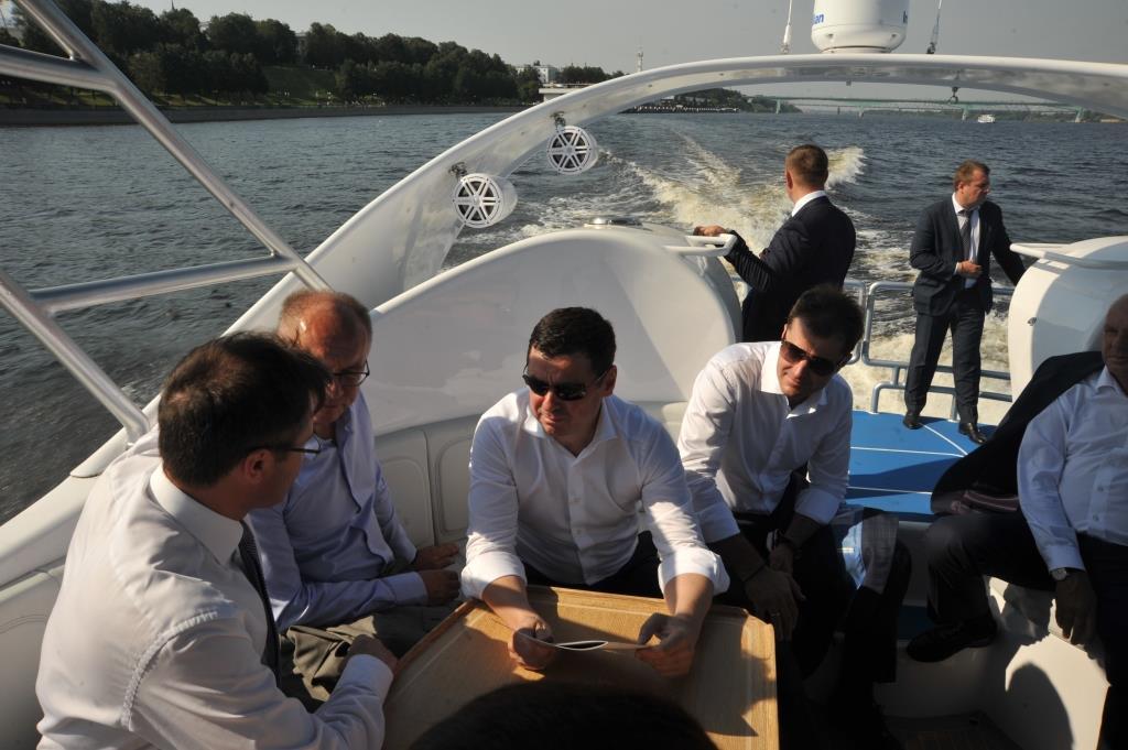 Глава региона Дмитрий Миронов: «Ярославская яхта на подводных крыльях позволит вывести речные туристические маршруты на новый уровень»