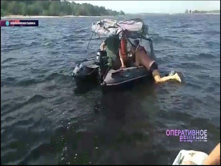 Опасные развлечения: на Волге остановили моторную лодку, буксирующую резиновую шлюпку
