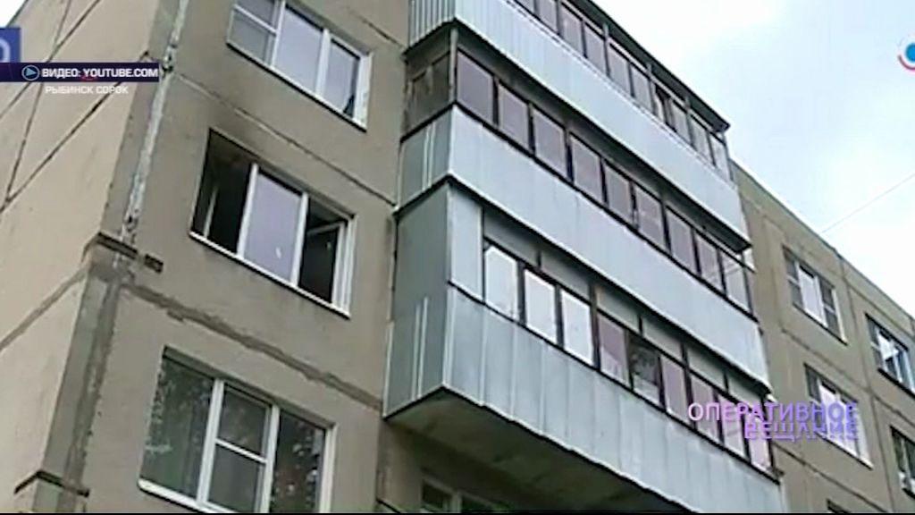 В Рыбинске на улице Ворошилова полыхала квартира