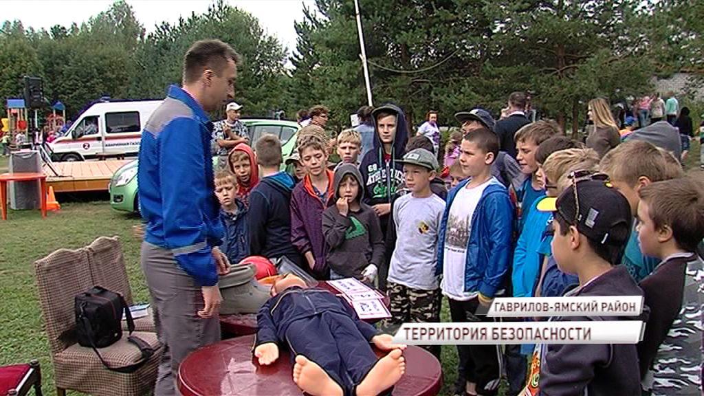 Дети отдыхающие в санатории, поучаствовали в тушении пожара и познакомились с правилами безопасности вблизи электростанций