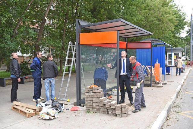 Еще одна остановка нового образца появилась на улице Ярославля