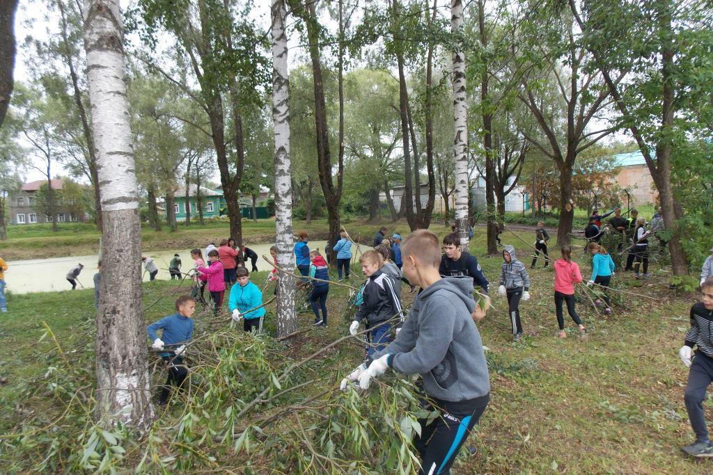 В благоустройстве центрального парка в Данилове приняли участие горожане