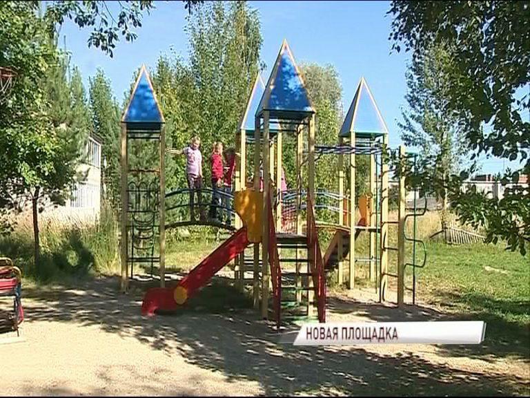 В поселке Борисоглебский установили детскую площадку