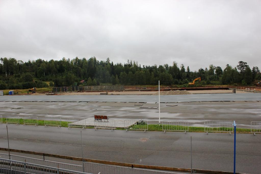 Завершается строительство стрельбища в биатлонном центре «Демино»