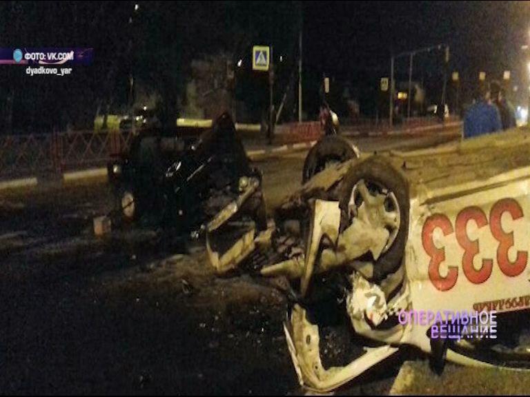 На проспекте Фрунзе «Жигули» врезался в такси