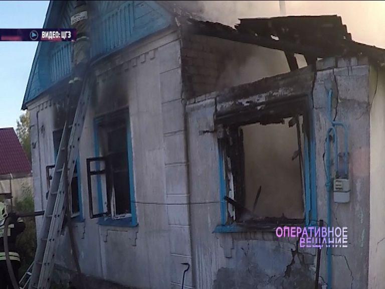В поселке Творогово горел частный дом