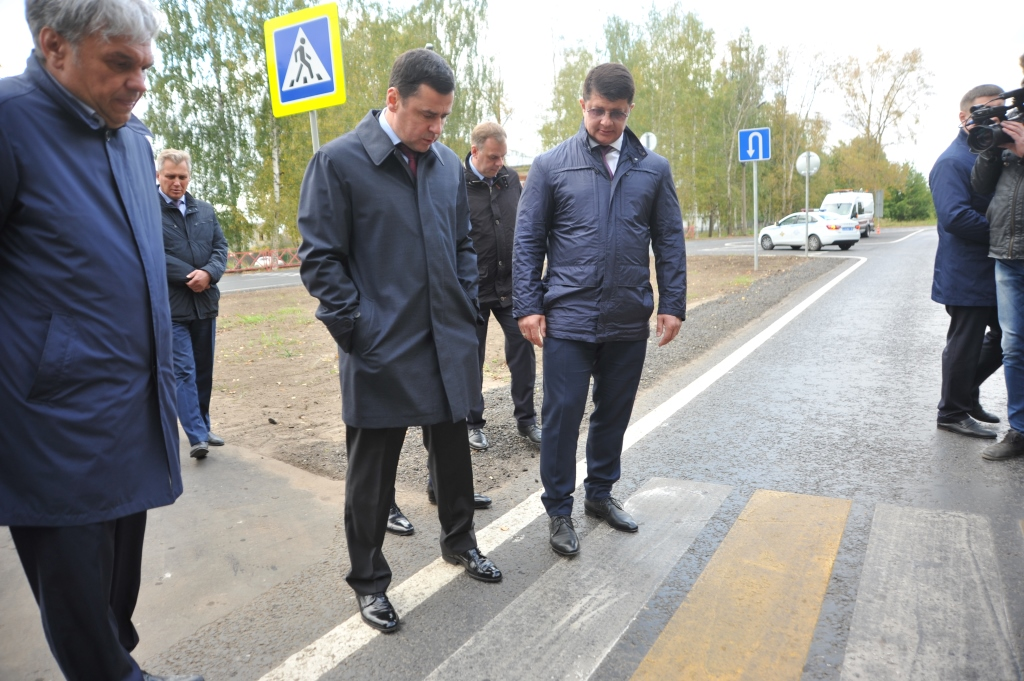 Дмитрий Миронов проинспектировал ход ремонта дороги на улице Маяковского
